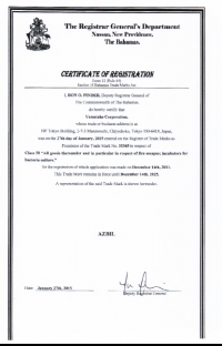 Legal representative for trademark in Bahamas