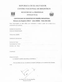 Design Registration El Salvador