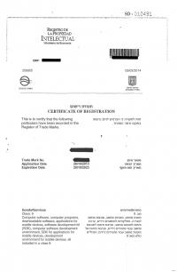 Legal representative for trademark in Israel