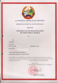 Design Registration Laos