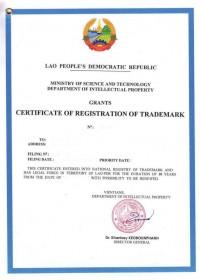 Legal representative for trademark in Laos
