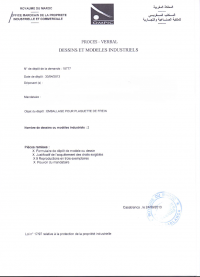 Design Registration Marocco