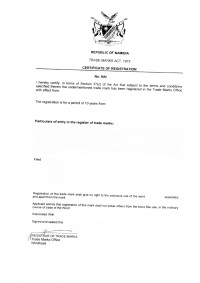 Legal representative for trademark in Namibia