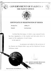 Design Registration Pakistan
