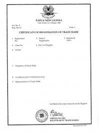 Legal representative for trademark in Papua New Guinea