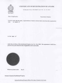 Legal representative for trademark in Sri Lanka