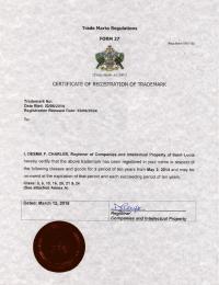 Legal representative for trademark in St. Lucia