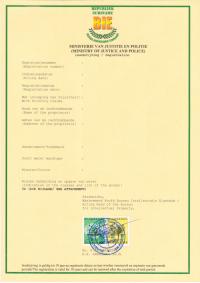 Change of trademark owner Surinam