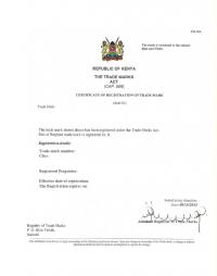 Change of trademark owner Kenya