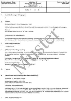 Company incorporation stock corporation (Aktiengesellschaft)