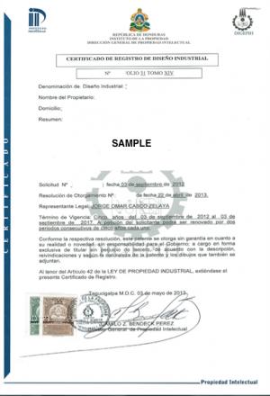 Legal representative for trademark in Honduras