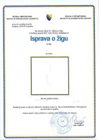 Legal representative for trademark in Bosnia