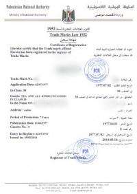 Trademark Renewal Palestine