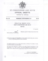 Design Registration Saint Kitts and Nevis