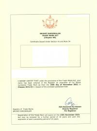 Design Registration Brunei