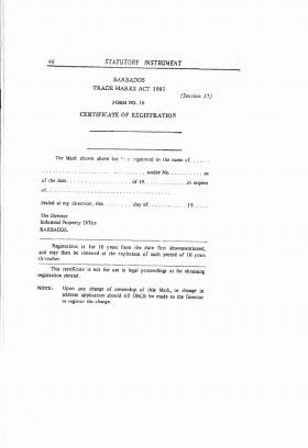 Design Registration Barbados