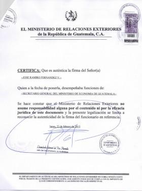Legal representative for trademark in Guatemala