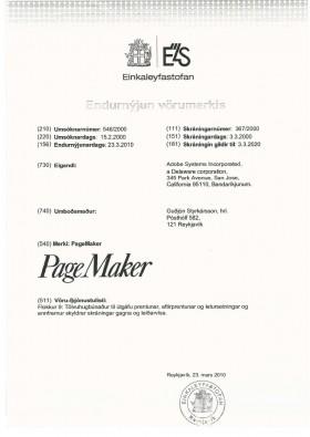 Change of trademark owner Iceland