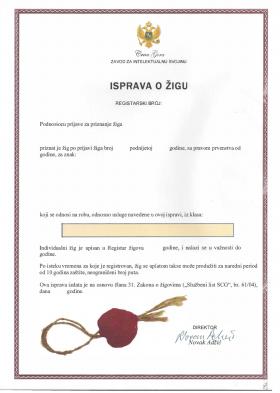 Legal representative for trademark in Montenegro