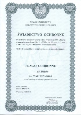 Change of trademark owner Poland