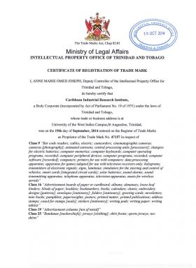 Legal representative for trademark in Trinidad and Tobago