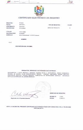 Legal representative for trademark in Venezuela