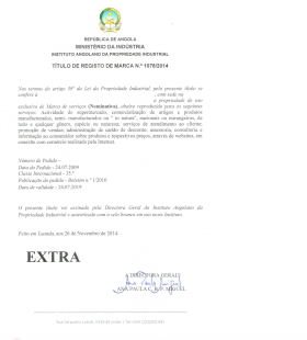 Legal representative for trademark in Angola