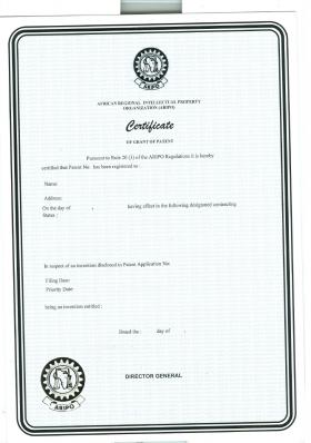 Legal representative for trademark in ARIPO